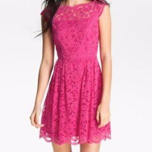 Cynthia Steffe Pink Lace Dress Size 4